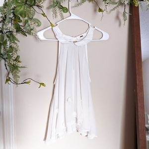 Free people white floral collar top